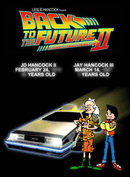 Back to the Future Party Invitation (Front)