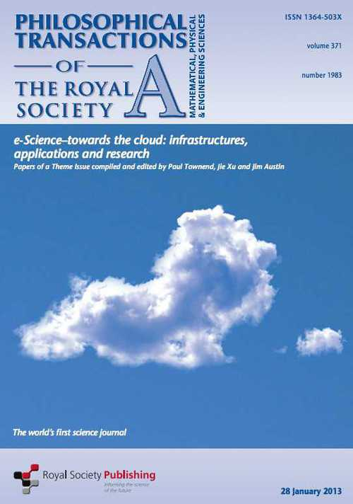 Cover of Philosophical Transactions of the Royal Society A journal issue number 1983