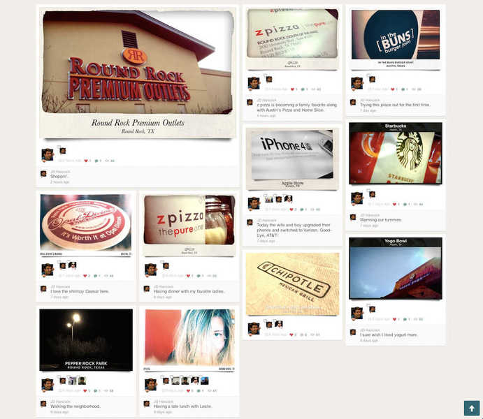 Screenshot of my Hipster profile page