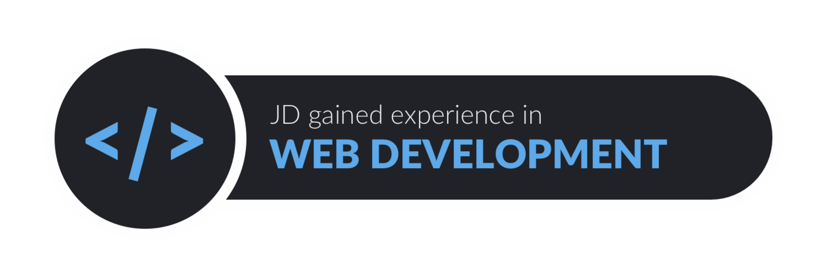JD gained experience in web development