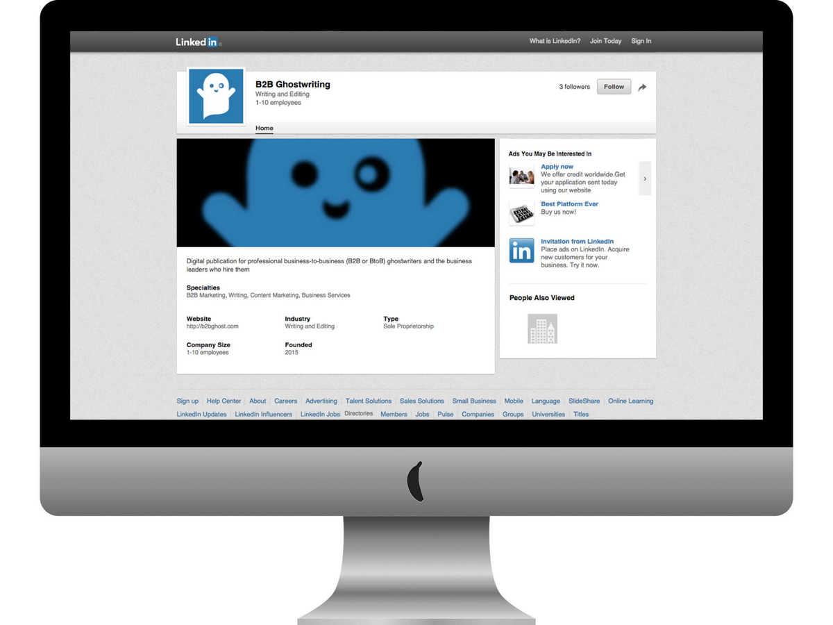 B2B Ghostwriting on LinkedIn