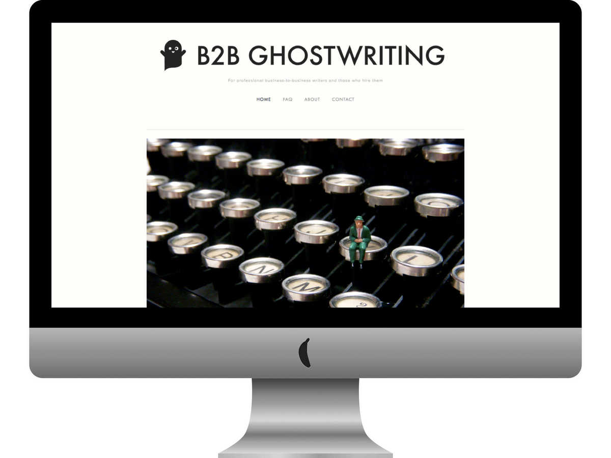 B2B Ghostwriting website