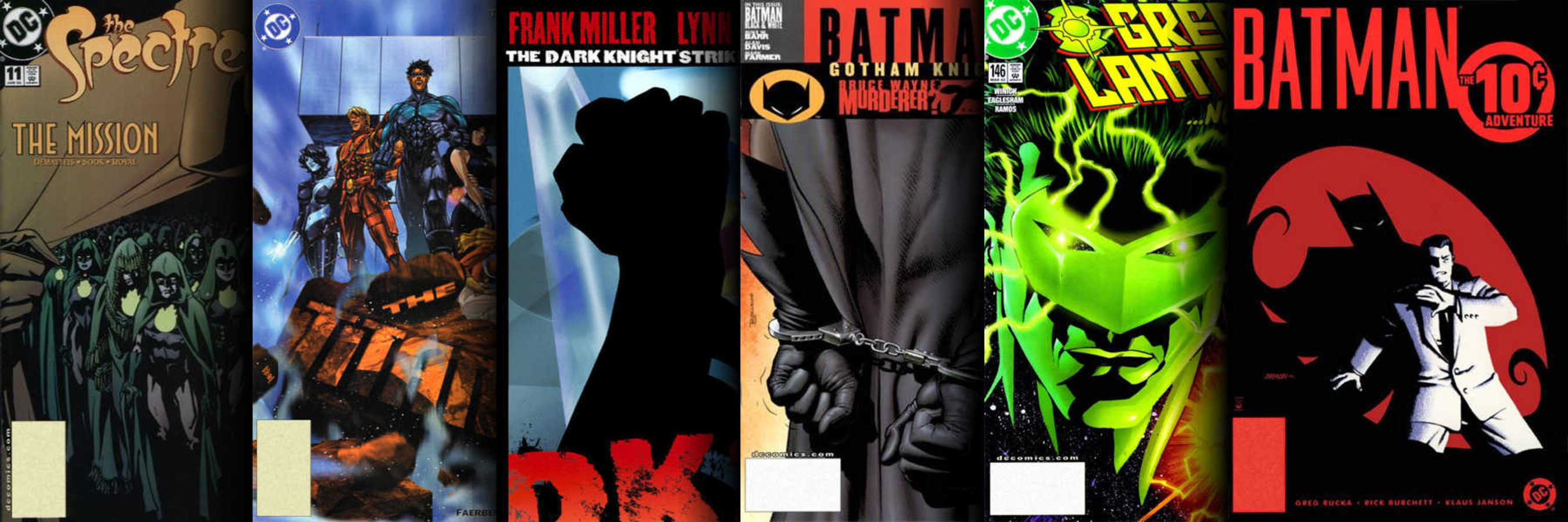 Various issues of DC Comics titles