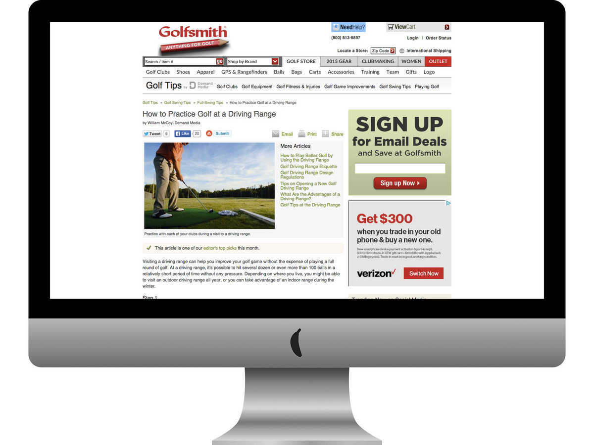 Golfsmith Golf Tips article