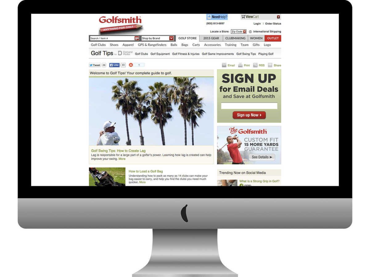 Golfsmith Golf Tips home page