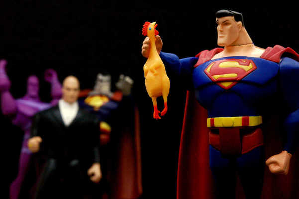 Man of Steel, Chicken of Rubber
