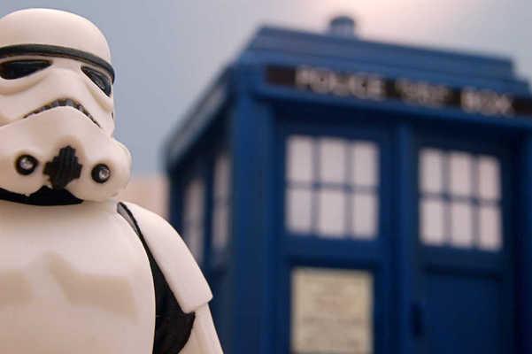 Stormtrooper Meets TARDIS
