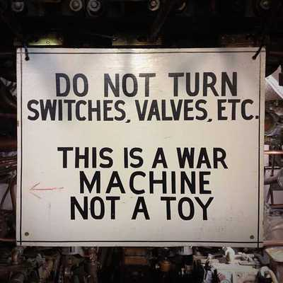 This is a war machine, not a toy.