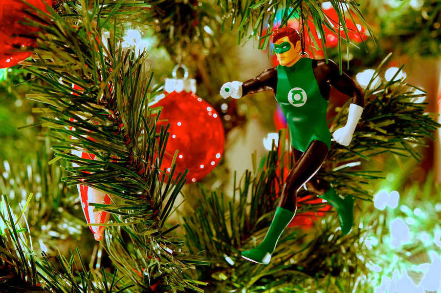 Photo of a Green Lantern Christmas ornament