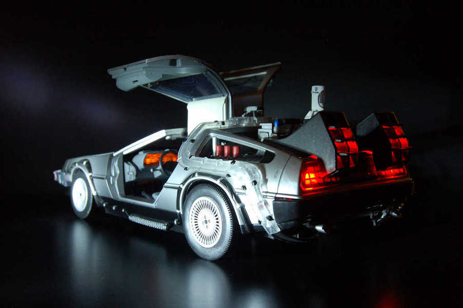 Photo of the time machine DeLorean