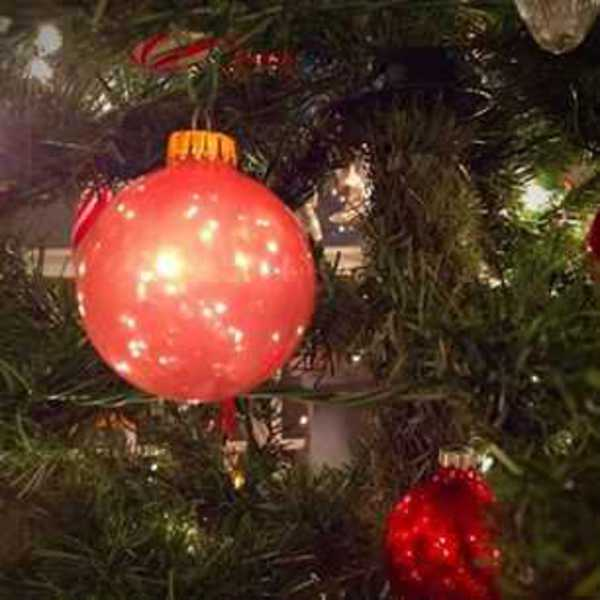 Photo of Granny's pink ball ornament
