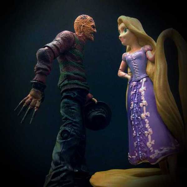 Photo of Freddy Krueger and Rapunzel