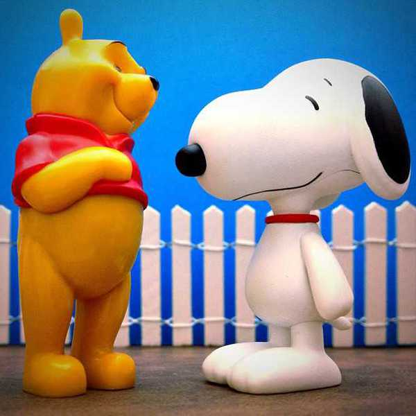 Photo of Winnie the Pooh and Snoopy