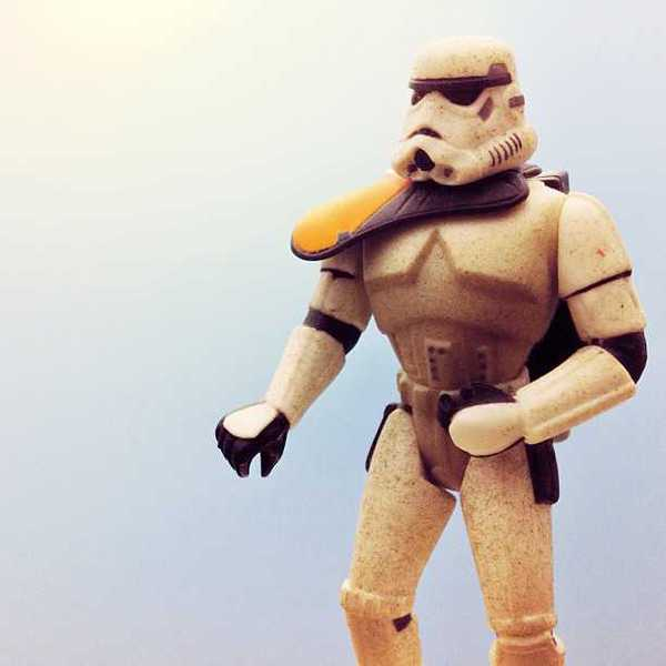 Photo of a sand trooper