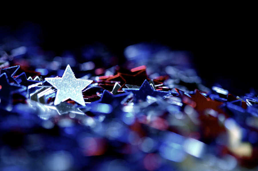 Photo of a pile of shiny and colorful stars