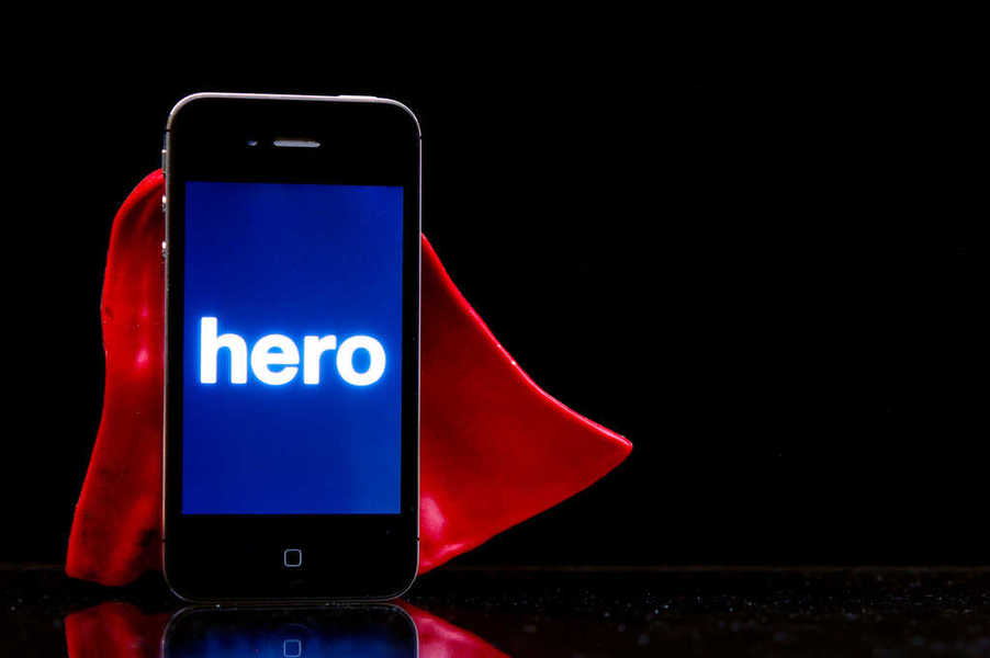 Photo of a phone wearing a red cape