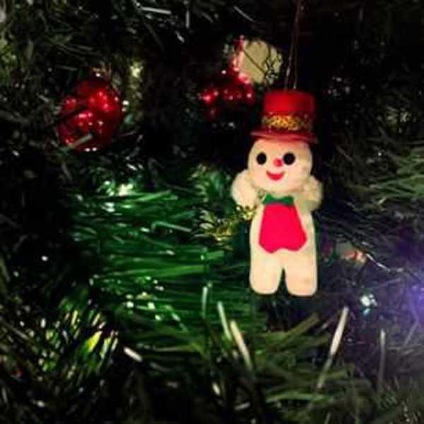 Photo of Memaw's little snowman ornament