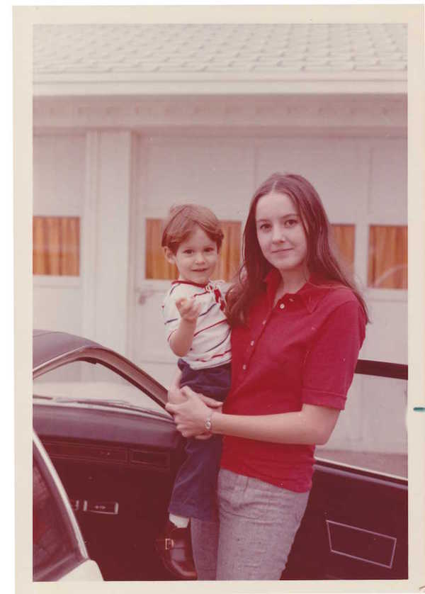 Photo of my mother and me