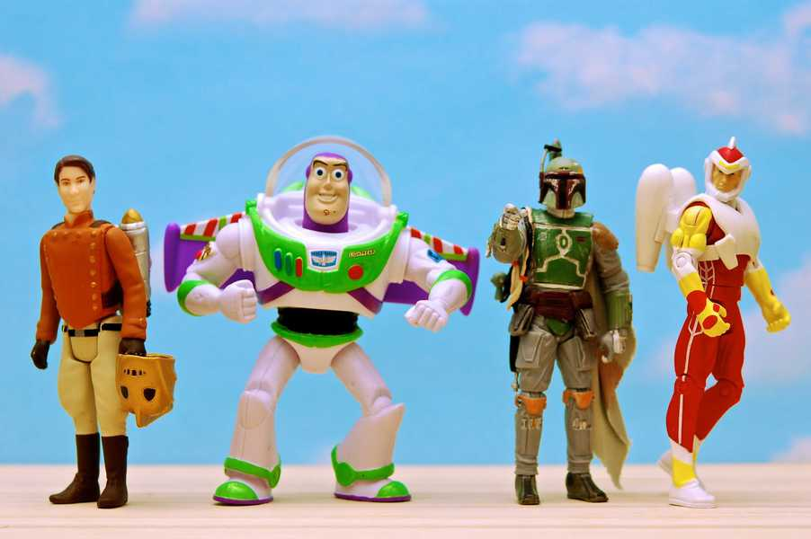 Photo of several characters wearing jet packs