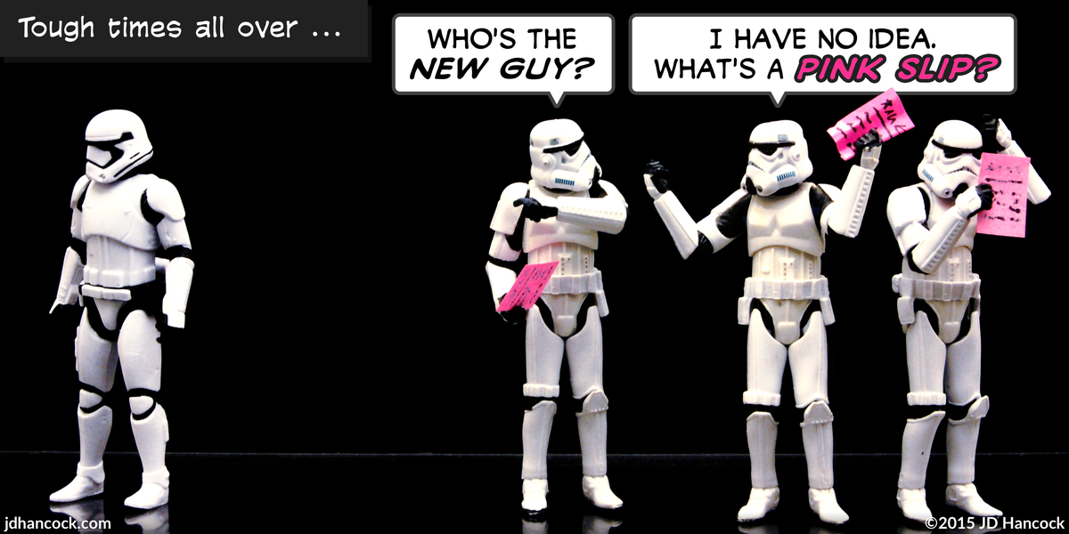 PopFig toy comic with a new stormtrooper replacing old ones.