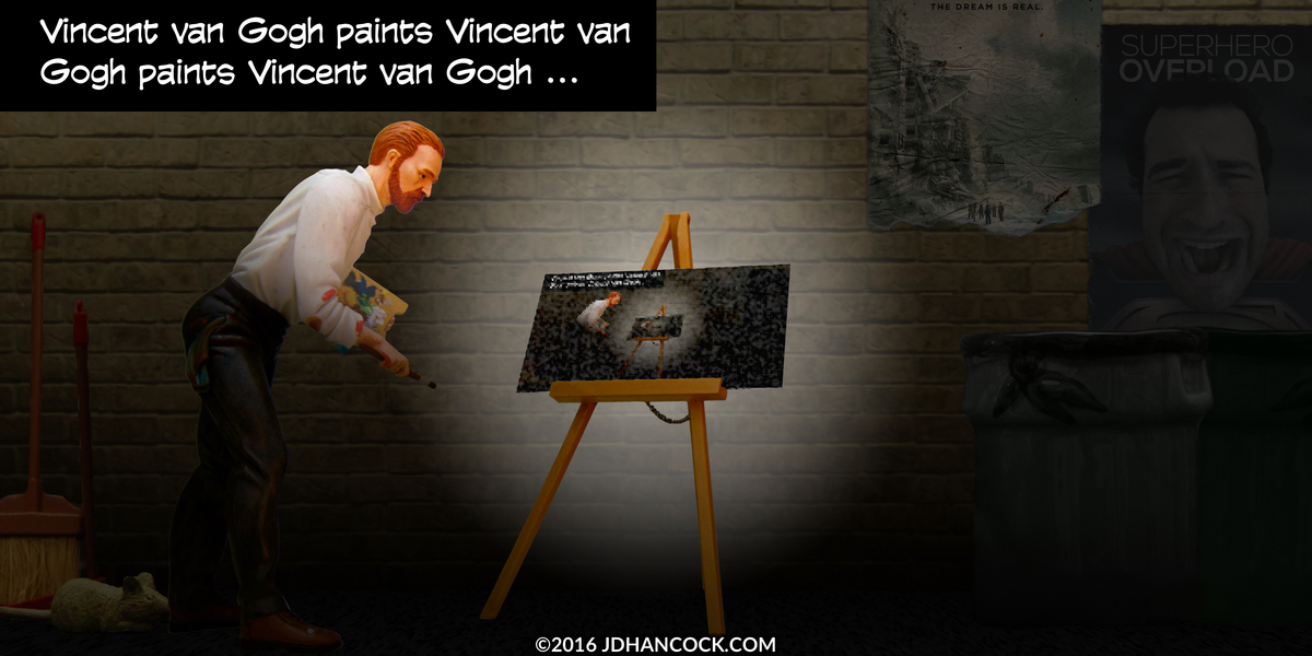 PopFig toy comic with Vincent van Gogh.