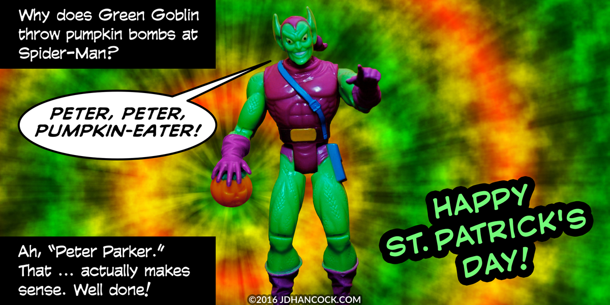 PopFig toy comic with Green Goblin.