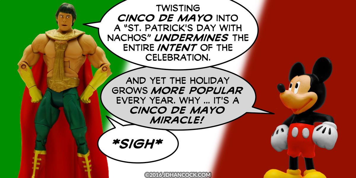 PopFig toy comic with El Dorado and Mickey Mouse.