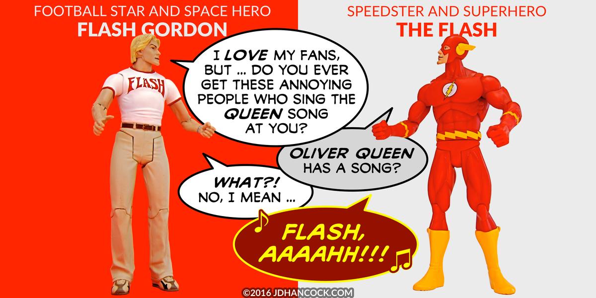 PopFig toy comic with Flash Gordon and the Flash.