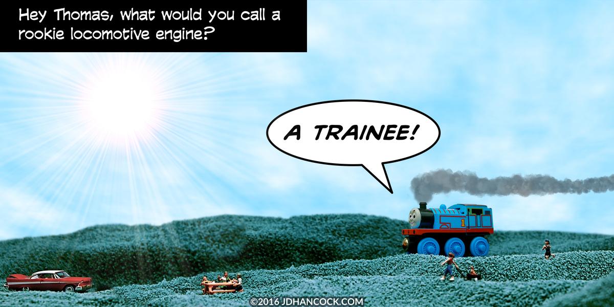 PopFig toy comic with Thomas the Tank Engine.