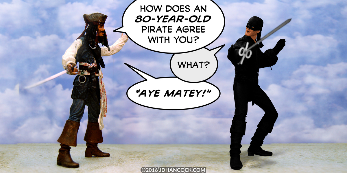 PopFig toy comic with Captain Jack Sparrow and the Dread Pirate Roberts.