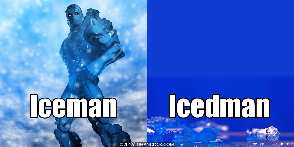 PopFig toy comic with Iceman.