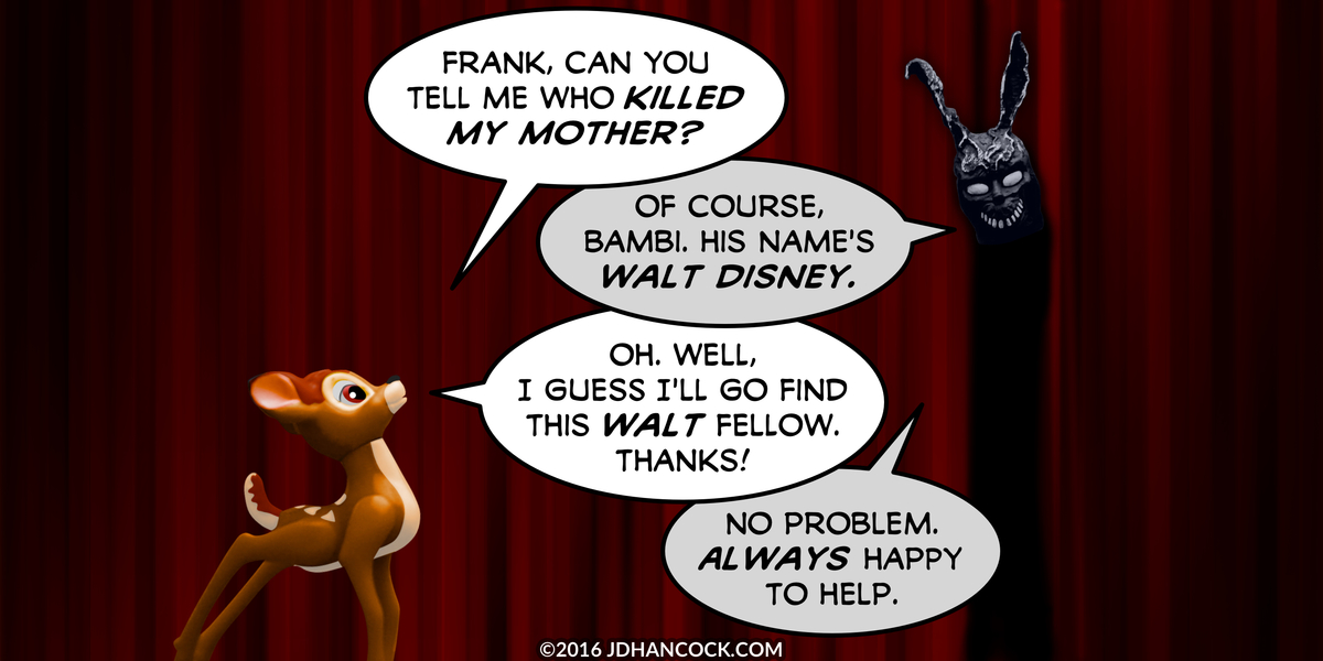 PopFig toy comic with Bambi and Frank the bunny.