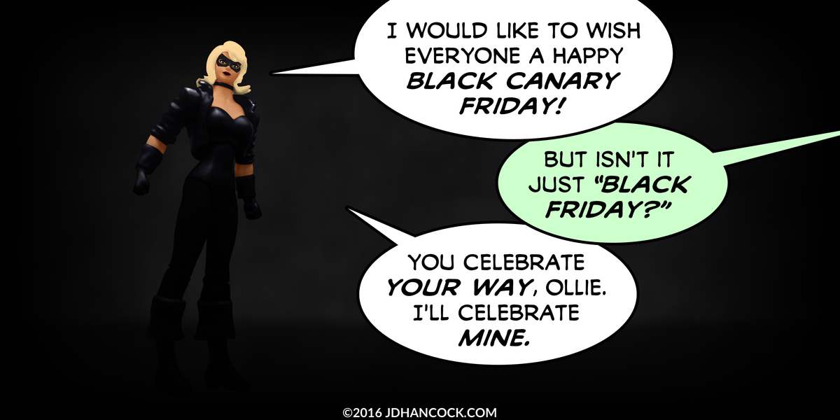 PopFig toy comic with Black Canary.