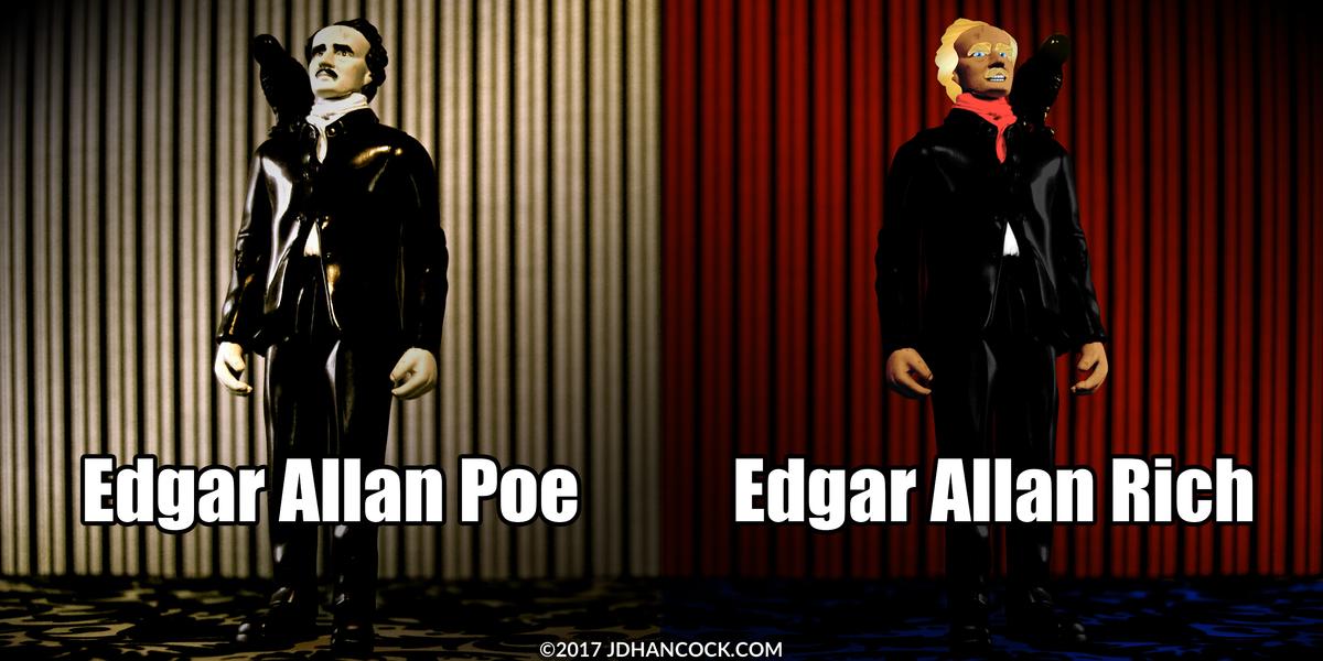 PopFig toy comic with Edgar Allan Poe.