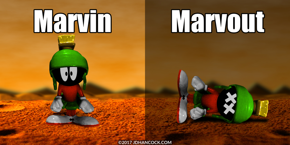 PopFig toy comic with Marvin the Martian.
