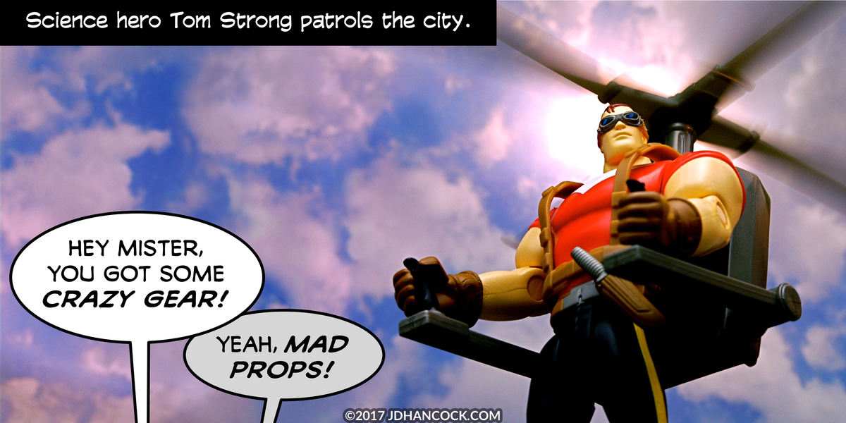 PopFig toy comic with Tom Strong.