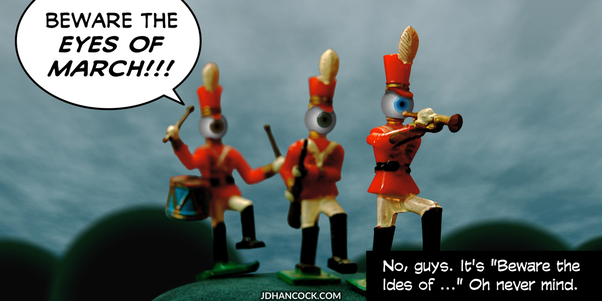 PopFig toy comic with weird-looking toy soldiers.