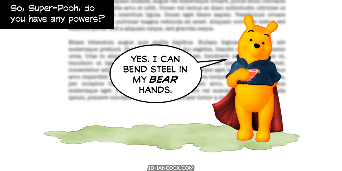 PopFig toy comic with Winnie-the-Pooh.