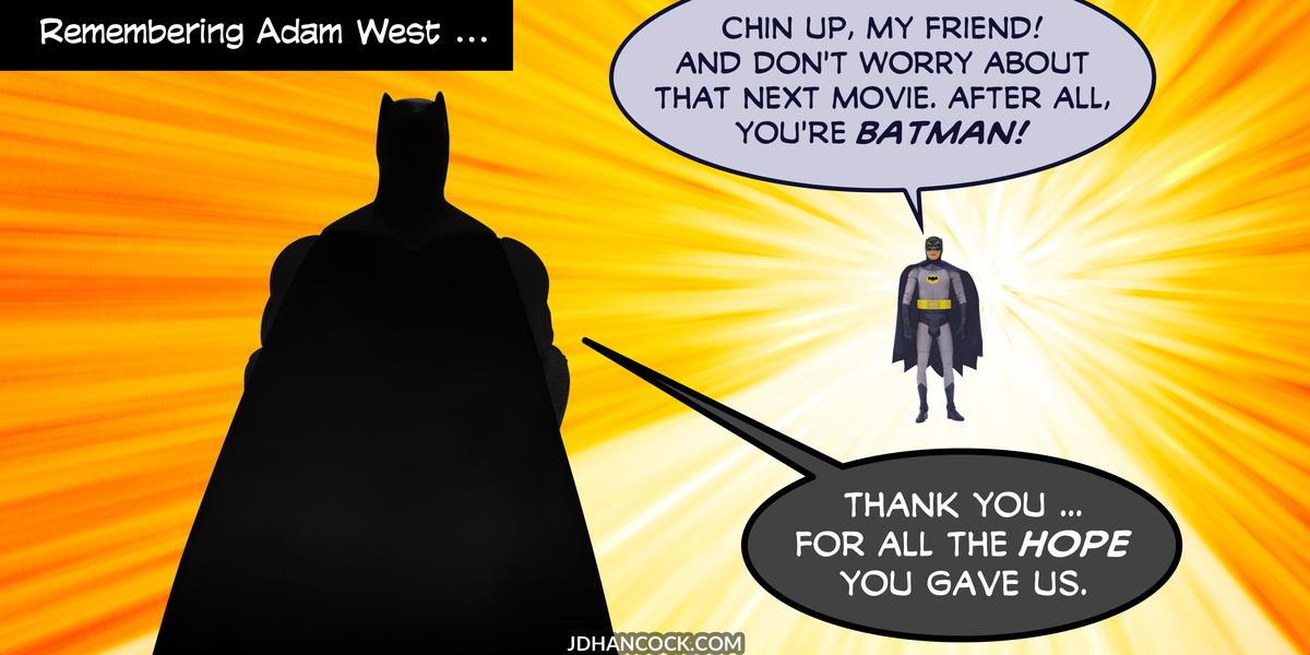 PopFig toy comic with Batman and Batman.