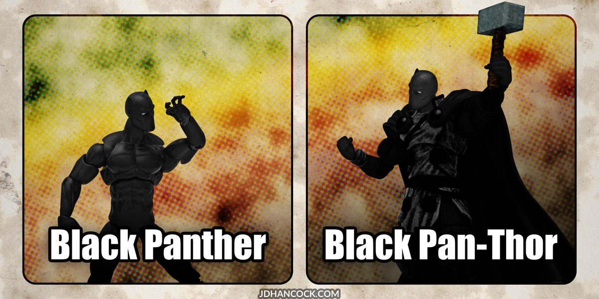 PopFig toy comic with Black Panther.