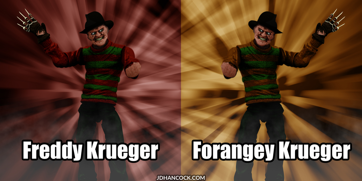 PopFig toy comic with Freddy Krueger and a friend, maybe.