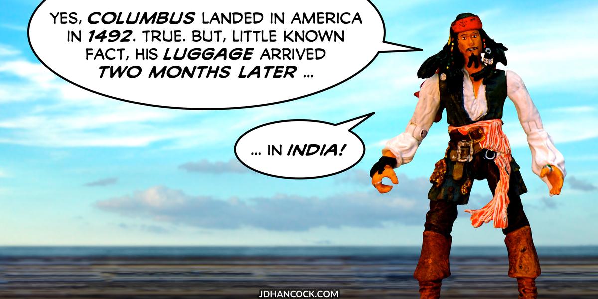PopFig toy comic with Captain Jack Sparrow.
