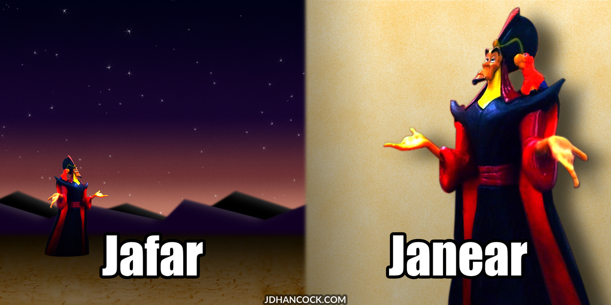 PopFig toy comic with Jafar and ... what have you.