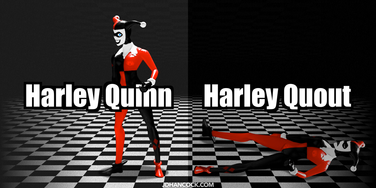PopFig toy comic with Harley Quinn and ....