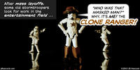 PopFig toy comic with a stormtrooper in a cowboy costume.