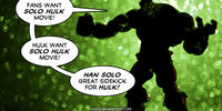 PopFig toy comic with the Hulk.