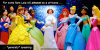 PopFig toy comic with Princess Leia and many Disney Princesses.