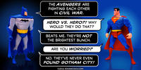 PopFig toy comic with Batman and Superman.