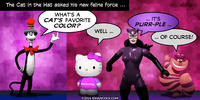 PopFig toy comic with The Cat in the Hat and his new feline force.