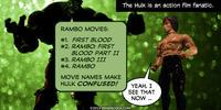 PopFig toy comic with the Hulk and Rambo.